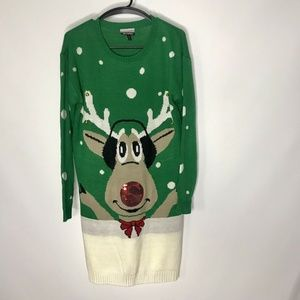 New Allison Brittney Ugly Christmas Sweater Dress